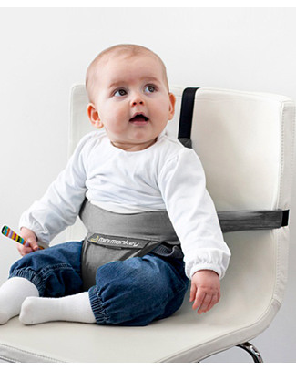 Minimonkey Minichair - Grey - Lightweight, Compact & Portable Travel Feeding Chairs