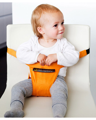 Minimonkey Minichair - Orange - Lightweight, Compact & Portable Travel Feeding Chairs