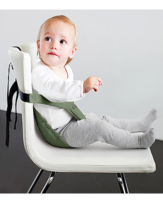Minimonkey Minichair - Sage Green - Lightweight, Compact & Portable Travel Feeding Chairs