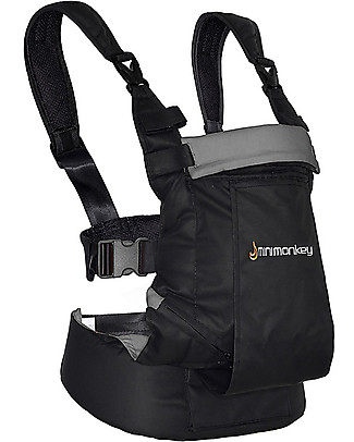 Minimonkey OUTLET - Baby Carrier Dynamic - Black/Grey - 4 in 1 Carrier (from birth, light and no backache!) Baby Carriers