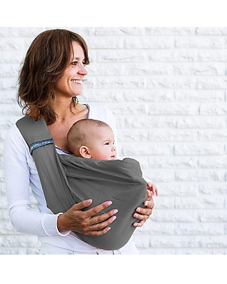 Minimonkey OUTLET - Baby Sling 4 in 1 - 100% Cotton - Grey Baby Slings