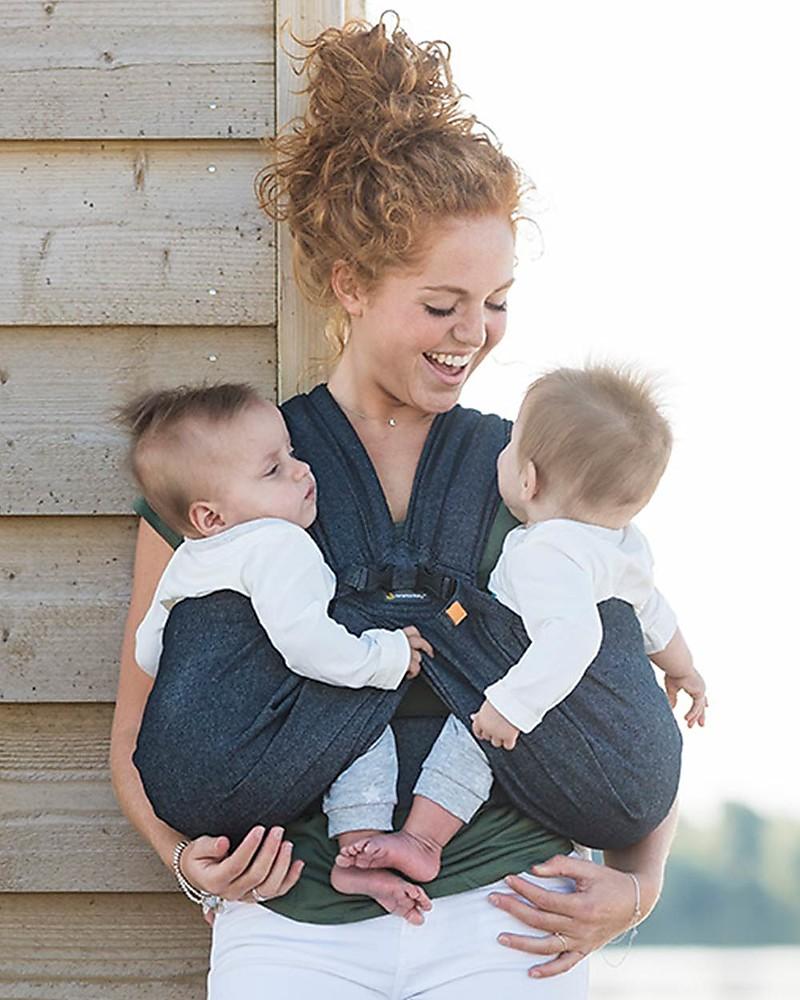 Minimonkey Twin Baby Carrier Grey Ergonomic And Easy To Wear