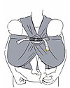 Minimonkey Twin Baby Carrier, Grey - Ergonomic and easy to wear Baby Slings