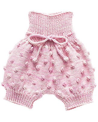 Misha and Puff Popcorn Bloomers, Lilac – 100% merino wool Shorts