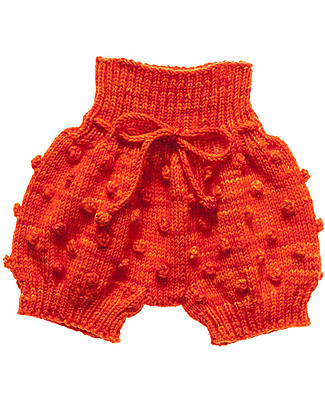 Misha and Puff Popcorn Bloomers, Persimmon – 100% merino wool Shorts