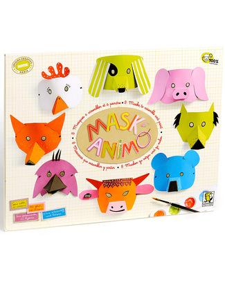 Mitik Maskanimo Animal Masks Set - Recycled Cardboard Paper & Cardboard
