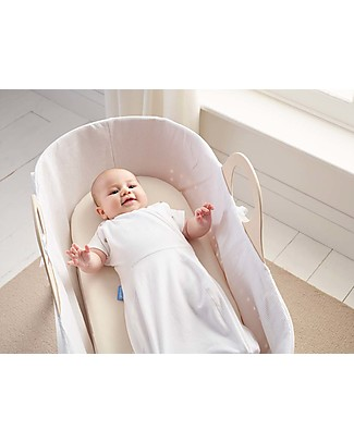 Moba Fitted Sheet for Moba Moses Basket, Beige - 100% cotton Bed Sheets