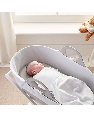 Moba Fitted Sheet for Moba Moses Basket, Dove - 100% cotton Bed Sheets