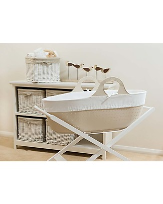 Moba MOBA Moses Basket - Beige Cribs & Moses Baskets