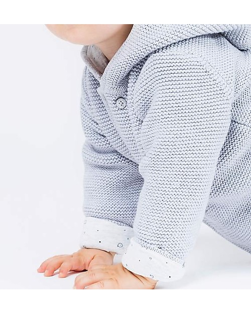 31974bd36525 Mori Knitted Baby Coat