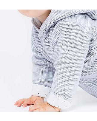 Mori Knitted Baby Coat, Grey - 100% Organic Cotton Coats
