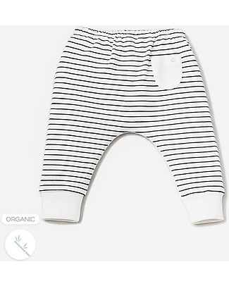 Mori Yoga Baby Pants, Stripes - Bamboo and organic cotton Trousers
