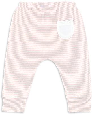 Mori Yoga Baby Pants, White & Blush - Bamboo and organic cotton Trousers