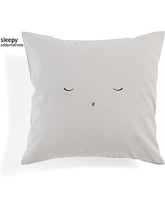Motomo Baby Cushion Sleepy - 30x30 cm 100% Organic Cotton Pillows