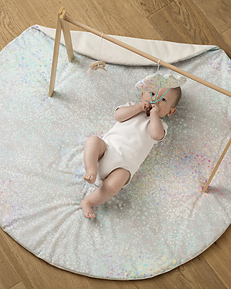 "Motomo Floor Play Pad ""Petals"", Rainbow - Organic cotton Playmats"