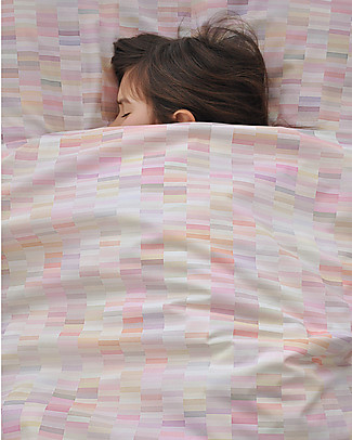 "Motomo Grownup Duvet Cover Set ""Pastels"", Pink - 150x200 cm - Organic cotton Duvet Sets"