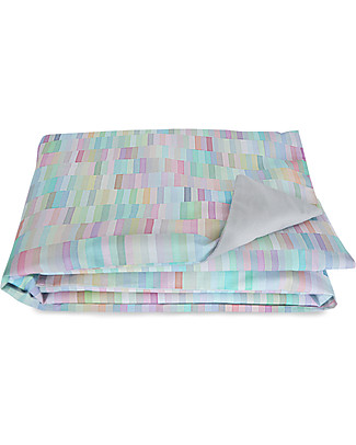 "Motomo Play Pad ""Pastels"", Rainbow -100x137 cm - organic cotton Playmats"