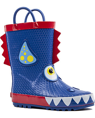 Mr.Tiggle Rubber Rain Boot with Cotton Lining - Blue Dragon Wellies