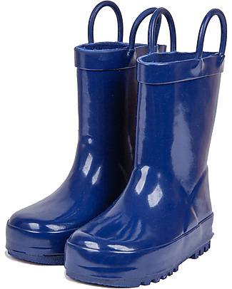 Mr.Tiggle Rubber Rain Boot with Cotton Lining - Blue Wellies