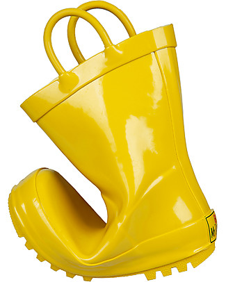 Mr.Tiggle Rubber Rain Boot with Cotton Lining - Yellow Wellies