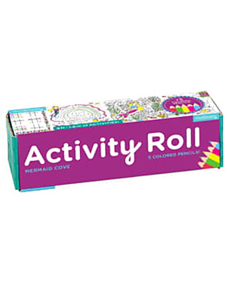 Mudpuppy Activity Roll, Mermaid Cove - Recycled Paper! Colouring Activities