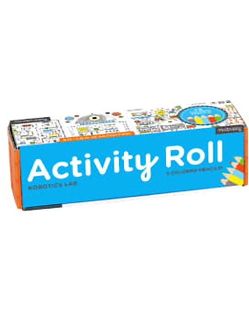 Mudpuppy Activity Roll, Robotics Lab - Recycled Paper! Colouring Activities