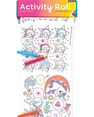 Mudpuppy Activity Roll, Unicorn Magic - Recycled Paper! Colouring Activities