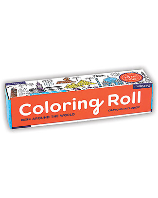 Mudpuppy Coloring Roll, Around the world - Perfect for group activity! Colouring Activities
