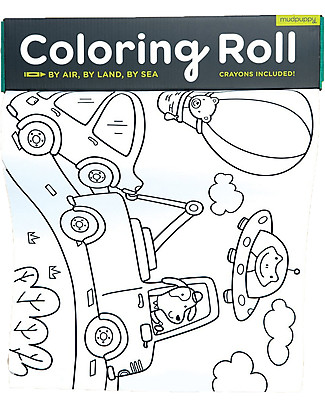 Mudpuppy Coloring Roll by Air, Land and Sea - Perfect for group activity! Colouring Activities