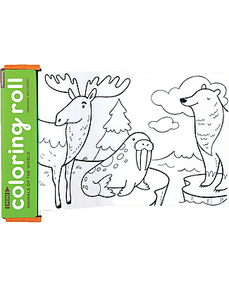 Mudpuppy Mini Coloring Roll, Animals of the World - Travel Friendly Companion! Colouring Activities