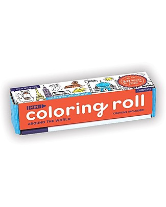 Mudpuppy Mini Coloring Roll, Around World - Travel Friendly Companion! Colouring Activities