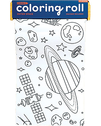Mudpuppy Mini Coloring Roll, Outer Space - Travel Friendly Companion! Colouring Activities