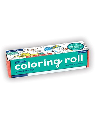 Mudpuppy Mini Coloring Roll, Under the Sea - Travel Friendly Companion! Colouring Activities