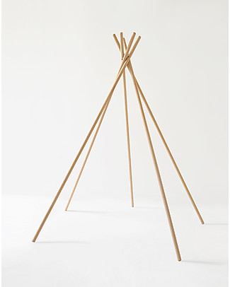 Mum and Dad Factory Beech Wood Tipi Structure, 148 cm tall - Made in France! Tepees & Tents