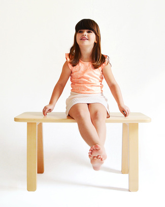 Mum and Dad Factory Natural Junior Table/Bench - Perfect size for the modern home Tables And Chairs