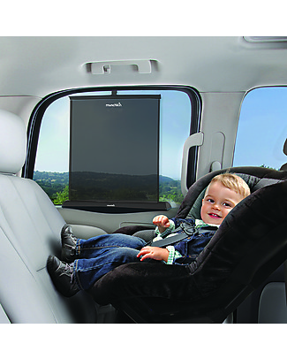 Munchkin Smart Shade - Rolls up and down with the window! Car Seat Accessories
