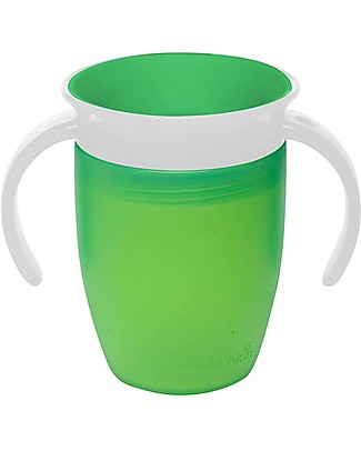 Munchkin Trainer Cup Miracle® 360°, 210 ml - Green with handles Cups & Beakers