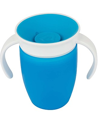 Munchkin Trainer Cup Miracle® 360°, 210 ml - Light Blue with handles Cups & Beakers