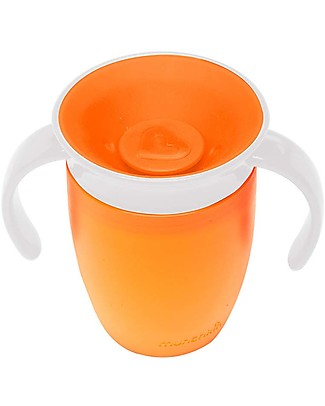 Munchkin Trainer Cup Miracle® 360°, 210 ml - Orange with handles Cups & Beakers