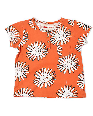 Nadadelazos Buttoned T-Shirt, Little Dandelion - 100% organic cotton jersey T-Shirts And Vests