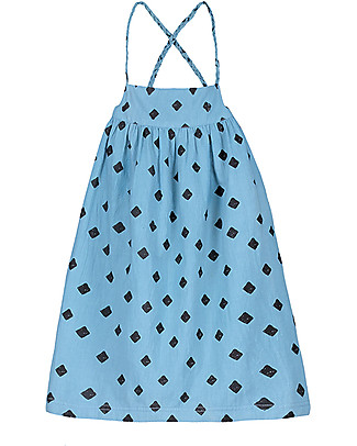Nadadelazos Girl Dress, Mini Rombo - 100% cotton Dresses