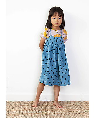 Nadadelazos Girl Dress, Mini Rombo - 100% cotton Dresses