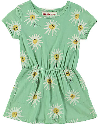 Nadadelazos Girl T-shirt Dress, Edelweiss - 100% organic cotton Dresses