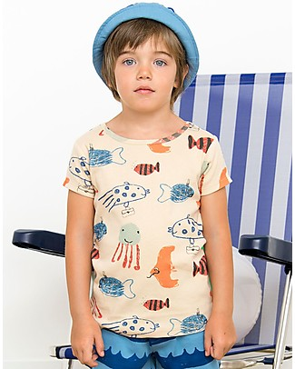 Nadadelazos Mediterranean Fishes T-shirt - 100% organic cotton jersey T-Shirts And Vests