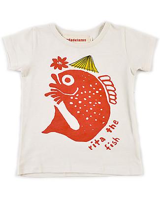 Nadadelazos Rita The Fish T-Shirt, 100% organic cotton jersey T-Shirts And Vests