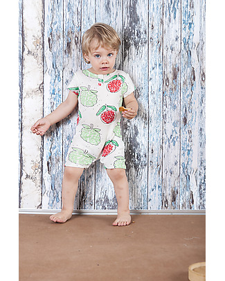 Nadadelazos Short Sleeves Bodysuit, Lychee and Mang Cau - 100% organic cotton jersey Short Rompers