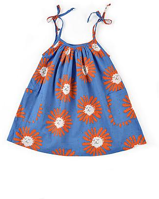 Nadadelazos Strappy Little Dandelion Dress, 100% organic cotton voile Dresses