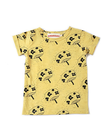 Nadadelazos T-Shirt Uchiwa Fan, Yellow - 100% organic cotton jersey T-Shirts And Vests