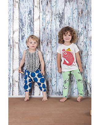 Nadadelazos Unisex Pant, Dotto - 100% organic cotton voile Trousers