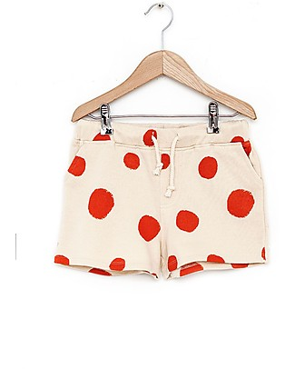 Nadadelazos Unisex Shorts, Flamenco Dots - 100% organic cotton loop terry Shorts